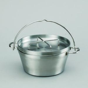 お手入れ簡単/ステンレス製ダッチオーブン(8インチ)