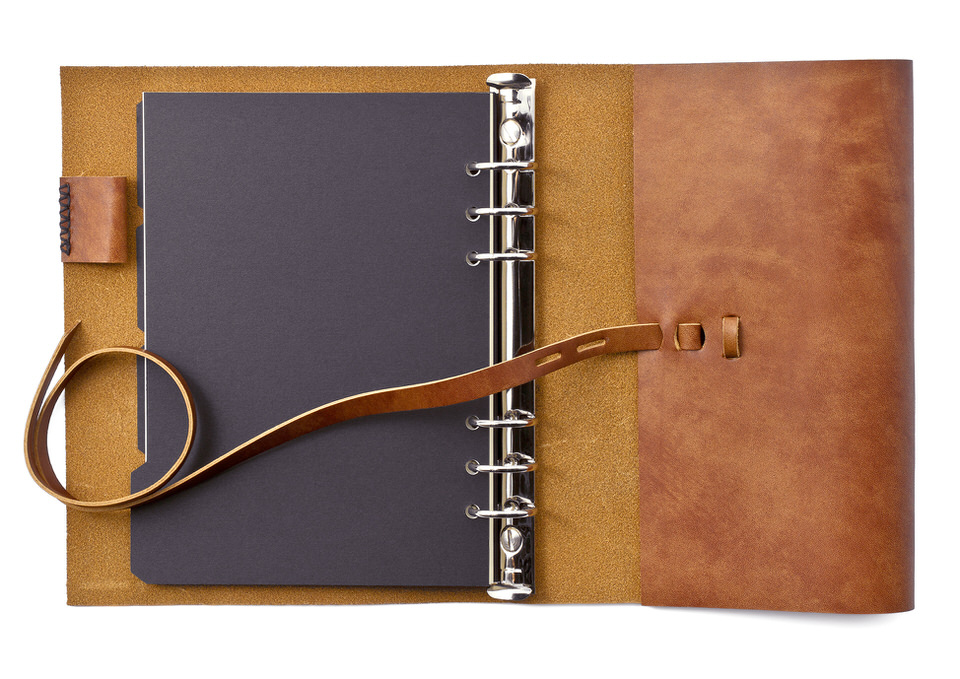 一枚革のシステム手帳
