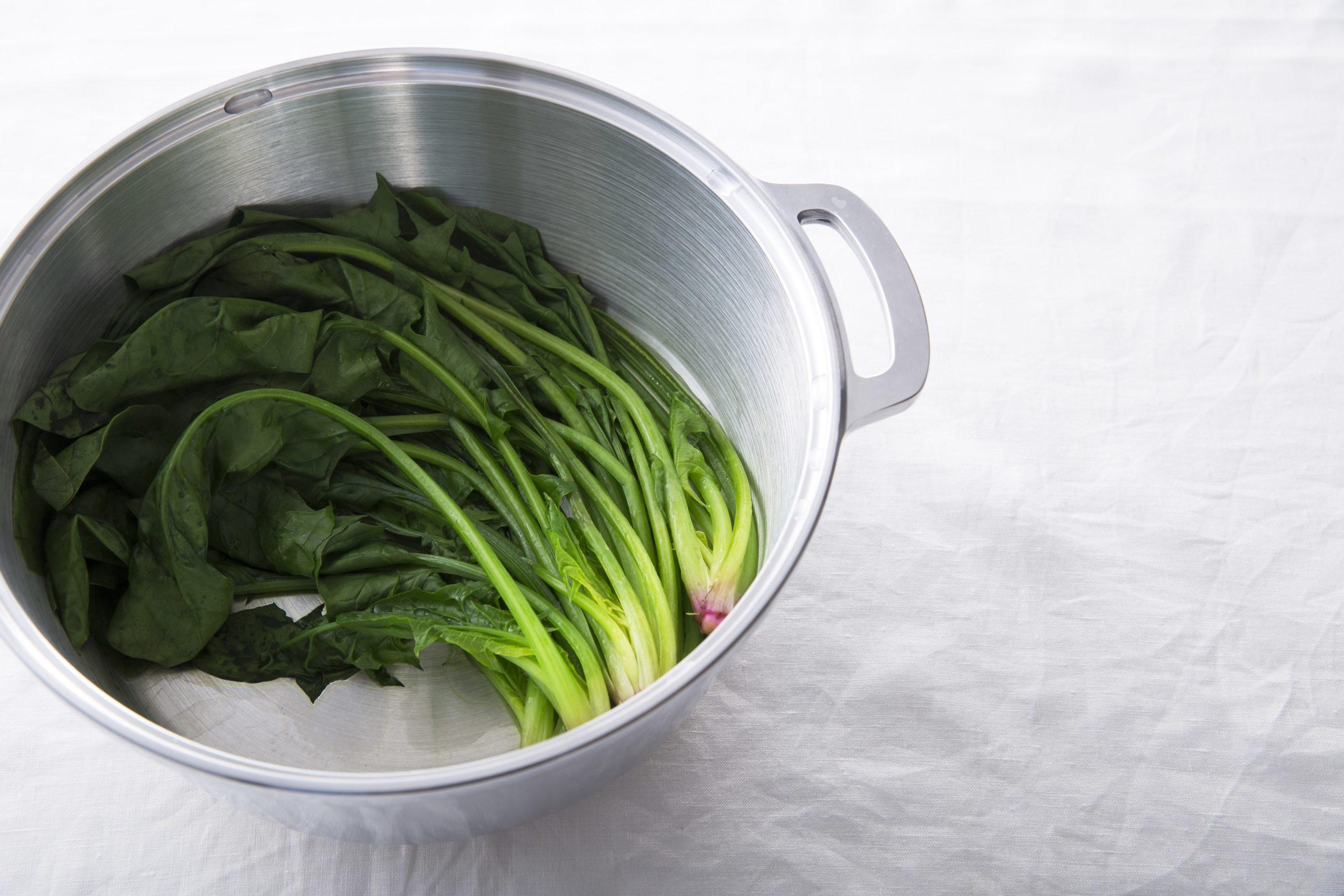 葉物野菜の栄養もぎゅっと閉じ込める