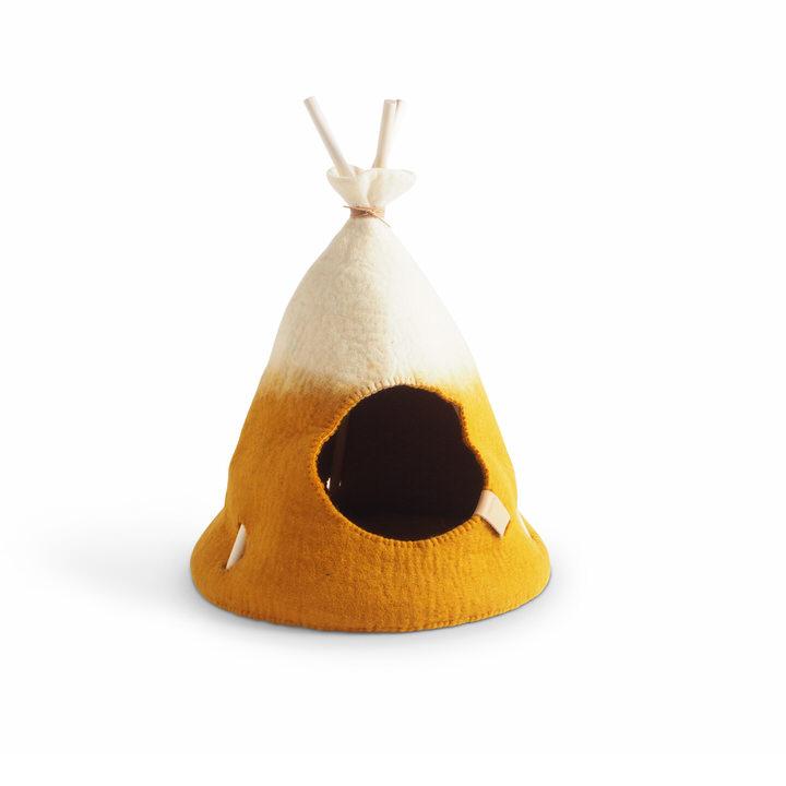 ウール100%で作ったペット用テント