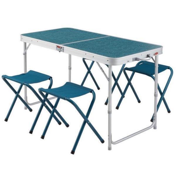 QUECHUAのテーブルは、用途に合わせてテーブルの高さ調節が可能