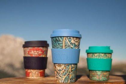 竹でできたエコ素材のコーヒーカップ