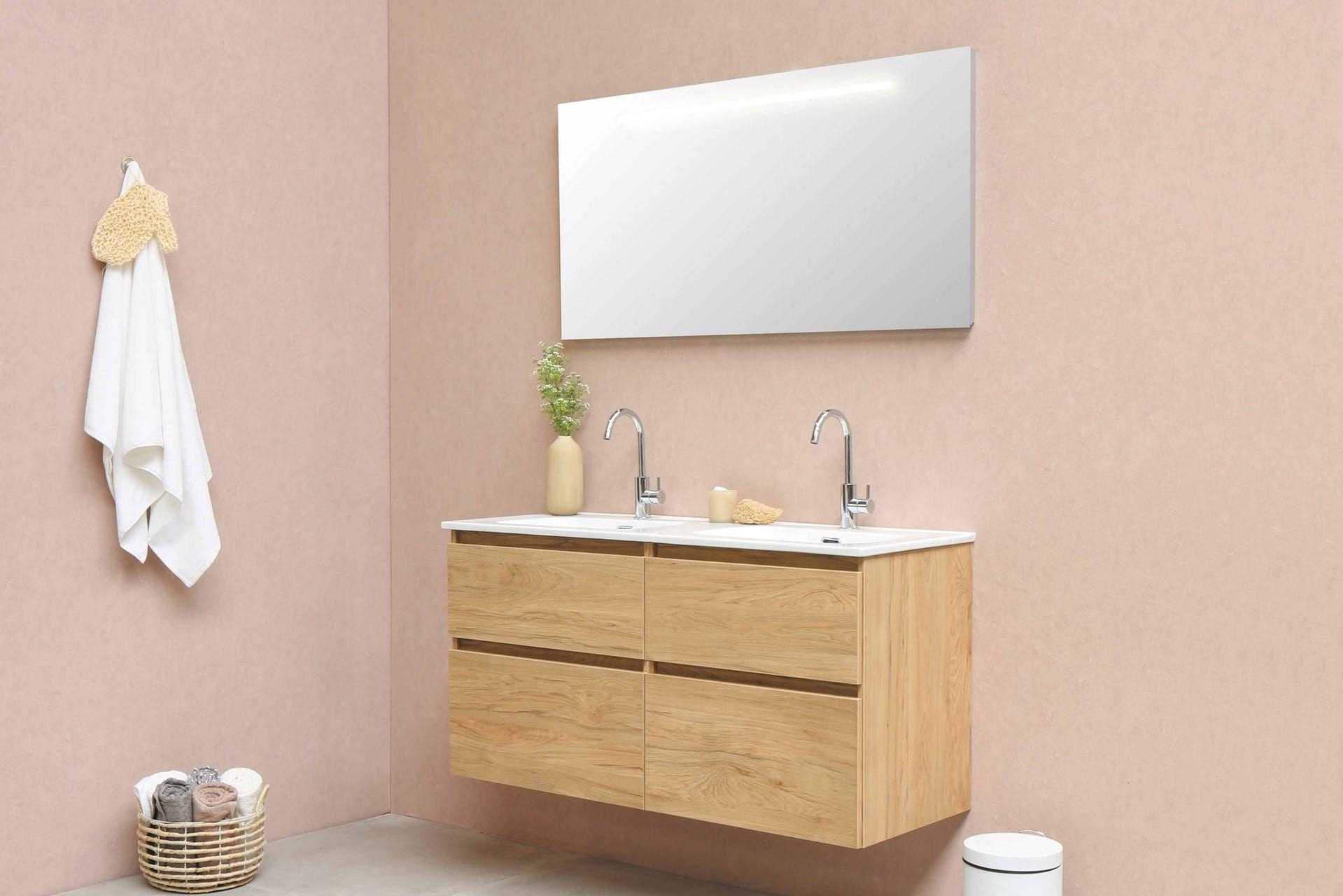 浴室と洗面所には「パステルカラー」と「清潔感」を
