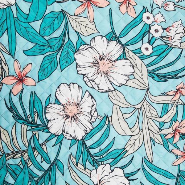 繊細な描写の美しい花模様が印象的なアクア