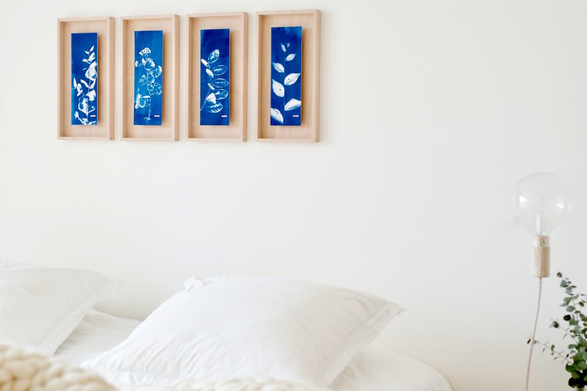 寝室は「白」を基調に。枕周りは「青」がオススメ
