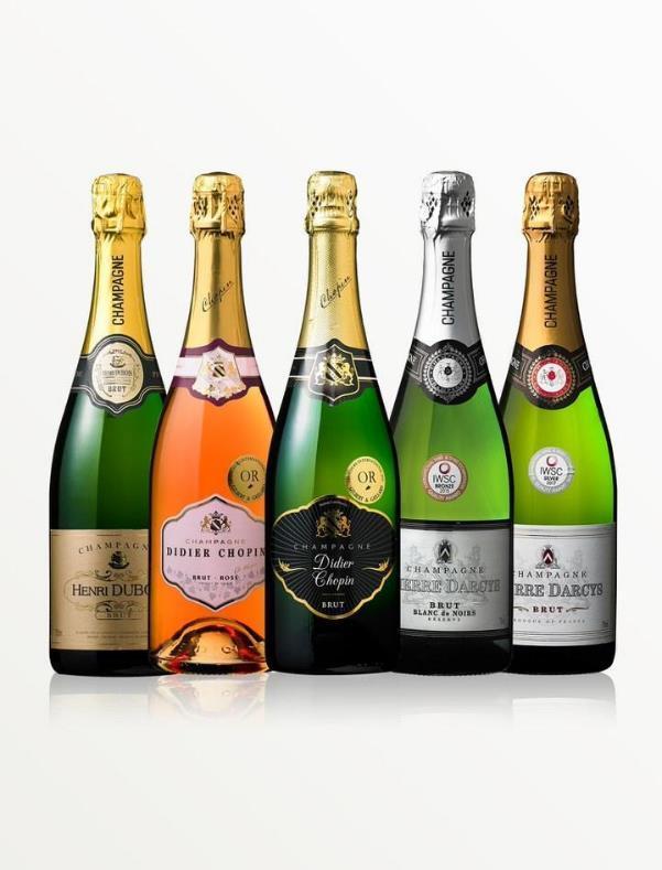 シャンパーニュワイン5本セット