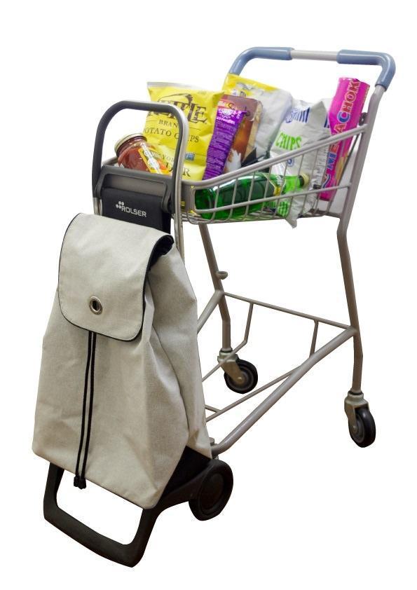 ショッピングカートに引っ掛けられる