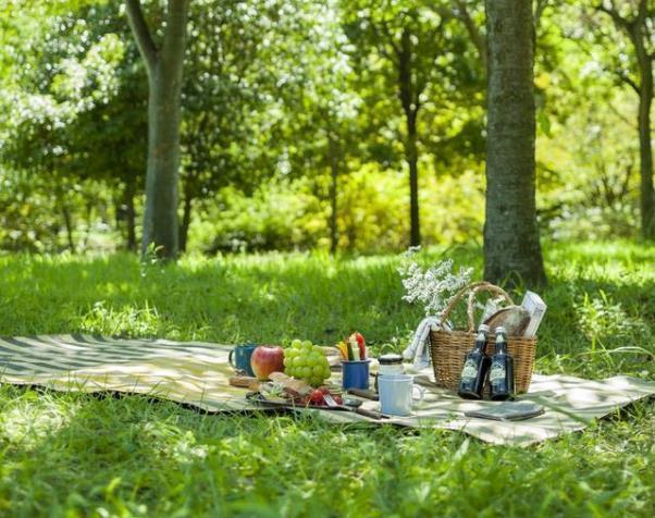 「crep(クレプ)」のピクニックラグは、再生紙でできていて頑丈なのに可愛いピクニックシート