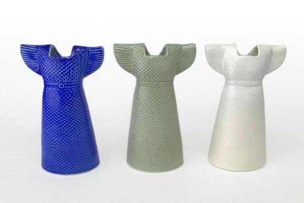 リサ・ラーソンの洋服モチーフの花器