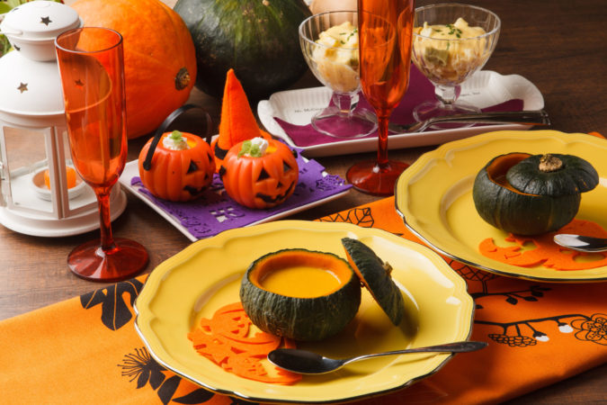 パンプキンスープはハロウィン定番のレシピ