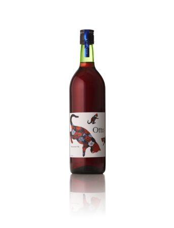 猫の描かれたおしゃれなラベルのワイン