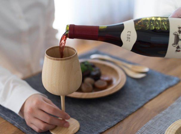 天然竹のワイングラス