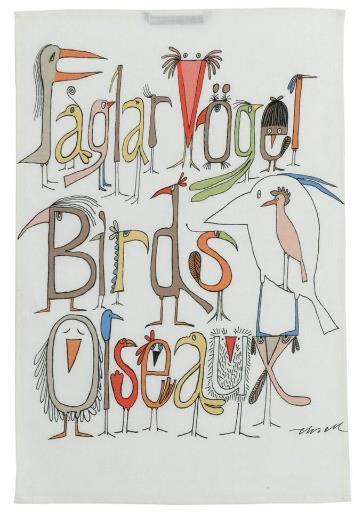 「おしゃべりな鳥たち」は鳥とアルファベットを融合させた面白い組み合わせ