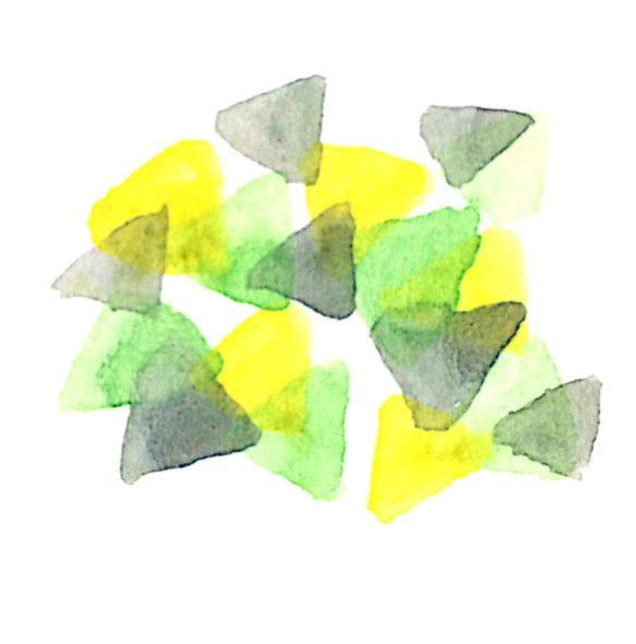 混ぜるのではなく重ねることで、色を鮮やかなまま紙に乗せる