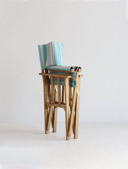 デザイン性と実用性を兼ね備えた折り畳み椅子