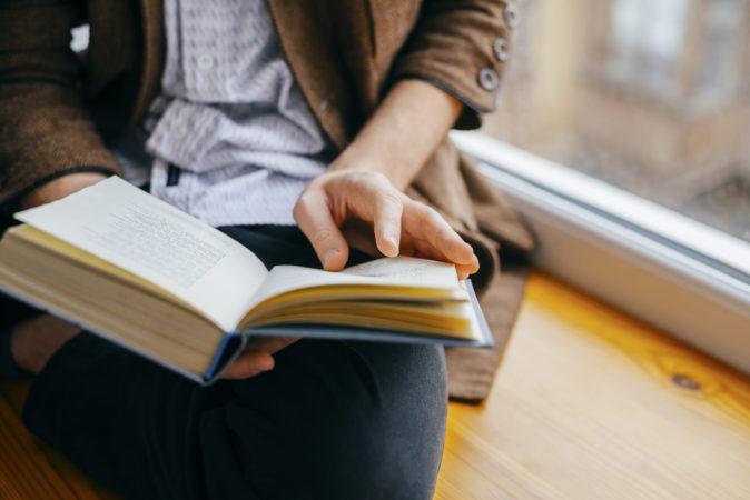 本の内容に集中