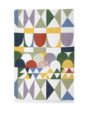 「ボウズマルチ」は大胆な色使いと、植物を象徴とした幾何学模様が特徴