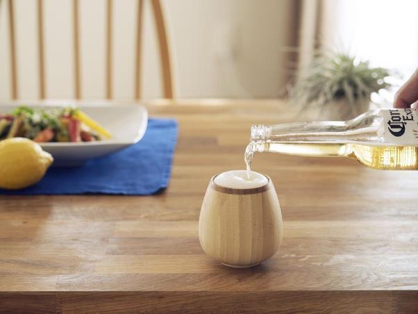 天然竹のグラス