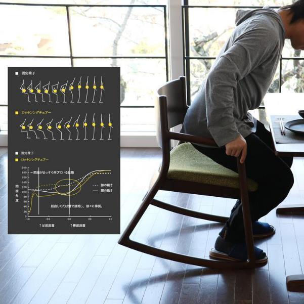 優しくしなやかに椅子が傾いて立ち上がりをサポート