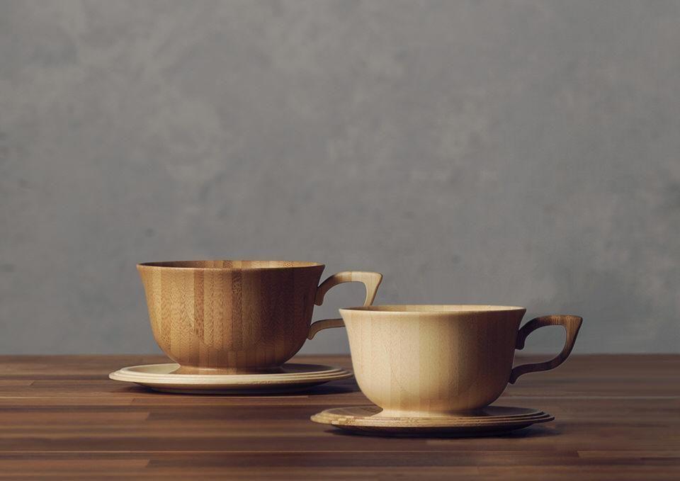 「RIVERET(リベレット)」天然竹のティーカップ&ソーサー