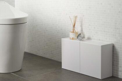 トイレ用品や掃除用具をおしゃれに隠せるtowerの収納アイテム