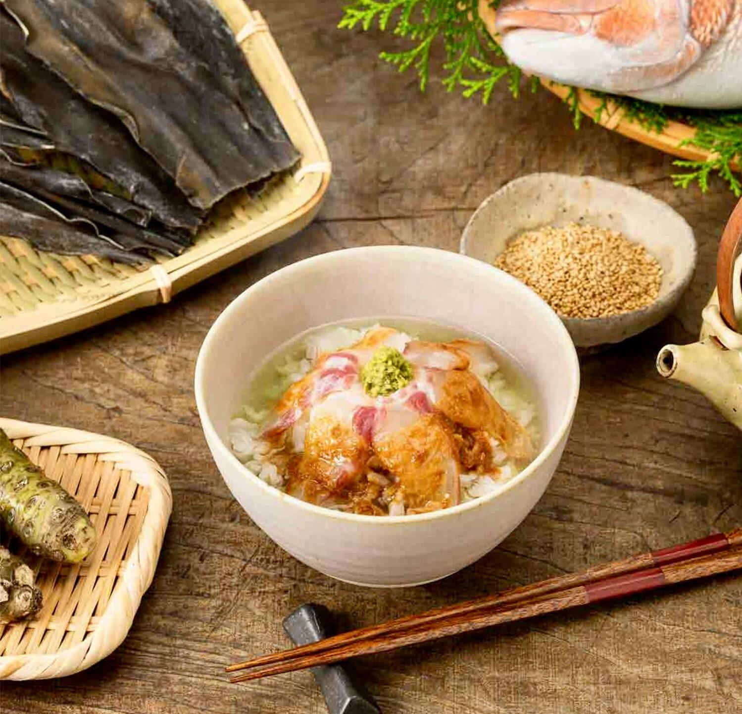 【別送】<SENDX!(センドクロス)>「食べるJAPAN 美味アワード2021」認定 鯛茶(2食セット)