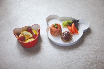 おしゃれな子供用食器。takのキッズディッシュベアプレート&ボウル