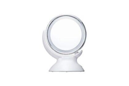 拡大鏡とライトのついたアラウンド LEDミラーでメイクの出来映えアップ