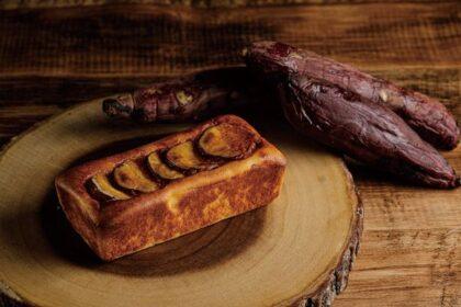 くつろぎのひとときに、さつま芋の甘さが引き立つ富津金時のチーズケーキを