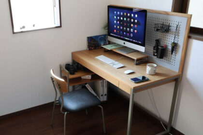 オフィスでも自宅でも活躍。ICHIBAのモニター台でPC作業を快適に